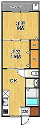 五反田ハイツ[306号室]の間取り