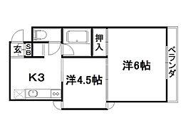 ラセットアベニュー[3階]の間取り