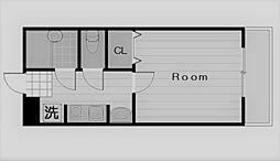 アーバンジャングルプレース174s[108号室]の間取り