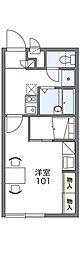 レオパレスウェルス2[1階]の間取り