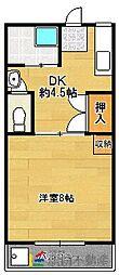 福岡県久留米市篠山町の賃貸マンションの間取り