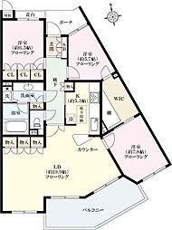 パシフィックガーデン茅ヶ崎B棟[4階]の間取り