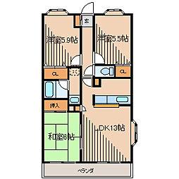 第7旭マンション[3階]の間取り