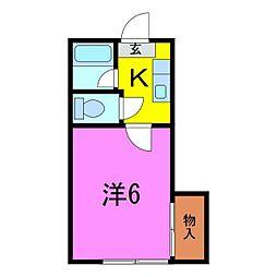 葵5号館[205号室]の間取り