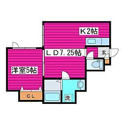REGOLITH新道東[105号室]の間取り
