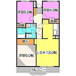 エスポワール新座[1階]の間取り