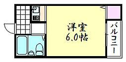 エクセル鶴橋[2B号室]の間取り