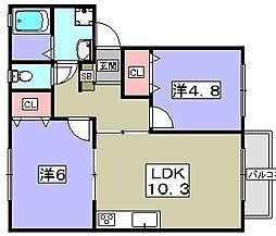 エクセレントYAMAMOTO[2階]の間取り