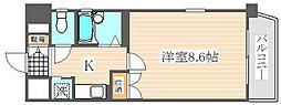 ライオンズステーションプラザ箱崎[4階]の間取り