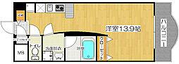 LUMOII天満[4階]の間取り