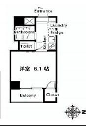 プリンセスコート東麻布[3階]の間取り