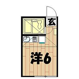 ユナイトステージ四季美台[201号室]の間取り