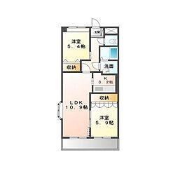 茨城県つくば市島名の賃貸マンションの間取り