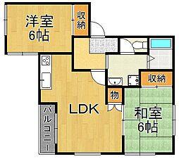 アベニュー武庫之荘[2階]の間取り