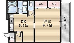 サンライトあべの5[105号室]の間取り