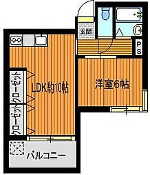 ピアネーズ桜[1階]の間取り