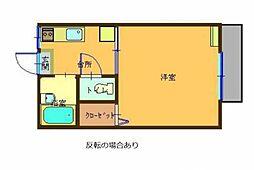 福田ハイツ[103号室]の間取り