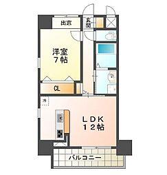西舞子壱番館[3階]の間取り