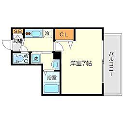 アスヴェル新大阪SOUTH[5階]の間取り