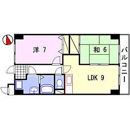 オーセント飯田[203号室]の間取り