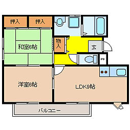 プレアール南亀井II[3階]の間取り