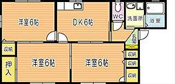 グリーンビレッジ湯川IIB棟[201号室]の間取り