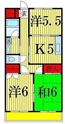 ヨコタハイツ[3階]の間取り
