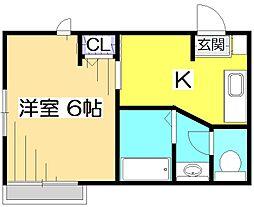 プチメゾン東戸倉[1階]の間取り