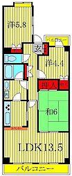 ラ・プレミール[5階]の間取り