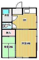 柚木荘[1階]の間取り