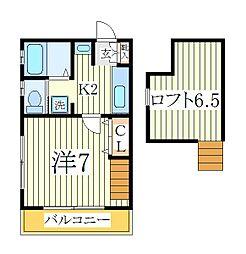 アパートメントKASAI II[2階]の間取り
