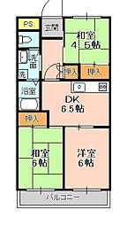 松戸レジデンス[106号室]の間取り