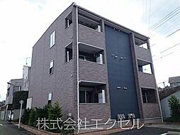 東京都多摩市関戸5丁目の賃貸アパートの外観