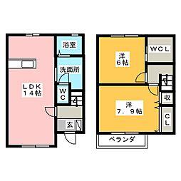 [テラスハウス] 静岡県浜松市東区植松町 の賃貸【/】の間取り