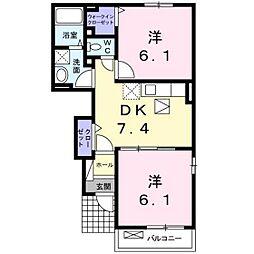 ブリーゼ二番館[1階]の間取り