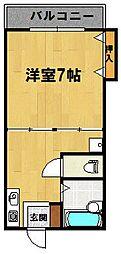 メゾンクラージュ[402号室]の間取り