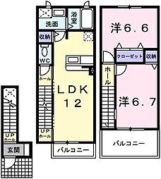 ソレイユ白浜北I[2階]の間取り