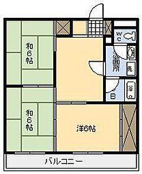 リバーサイドマンション[302号室]の間取り