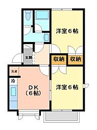 神奈川県川崎市宮前区平3丁目の賃貸アパートの間取り