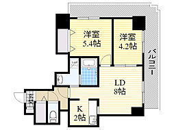北海道札幌市中央区南7条西6丁目の賃貸マンションの間取り