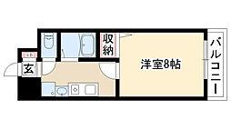 愛知県名古屋市瑞穂区堀田通1丁目の賃貸マンションの間取り
