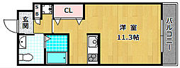 シャンテー御殿山2番館[6階]の間取り