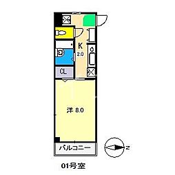 E-CASA入明[3階]の間取り