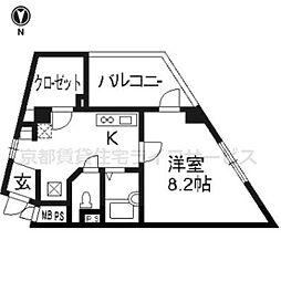 プラネシア星の子京都駅前[305号室]の間取り