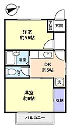 プランドールII[2階]の間取り