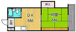 岡田ハイツ[3階]の間取り