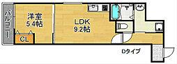フジパレス西加賀屋III番館[3階]の間取り