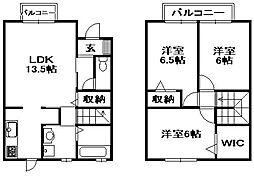 [タウンハウス] 兵庫県伊丹市中野北3丁目 の賃貸【/】の間取り
