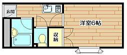 アメニティ91[3階]の間取り
