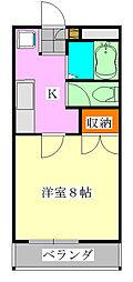 アルモ津田沼[2階]の間取り